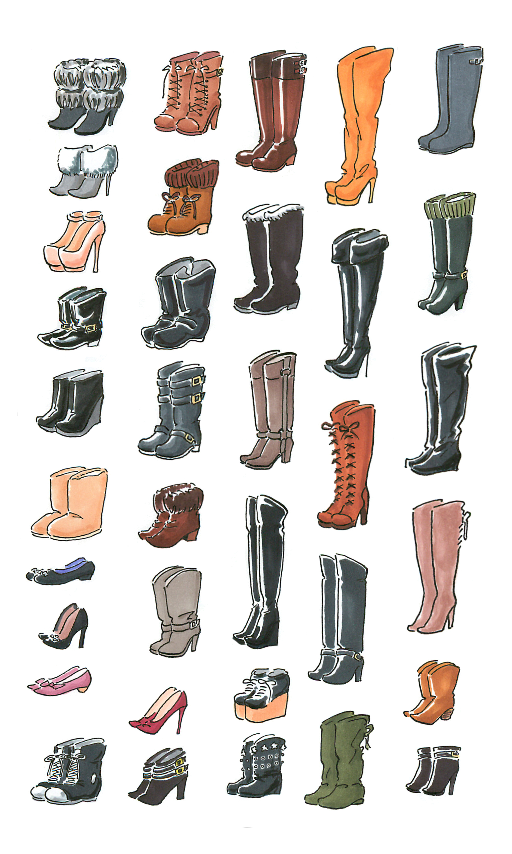 色はジミでも カタチは華やか 冬の靴