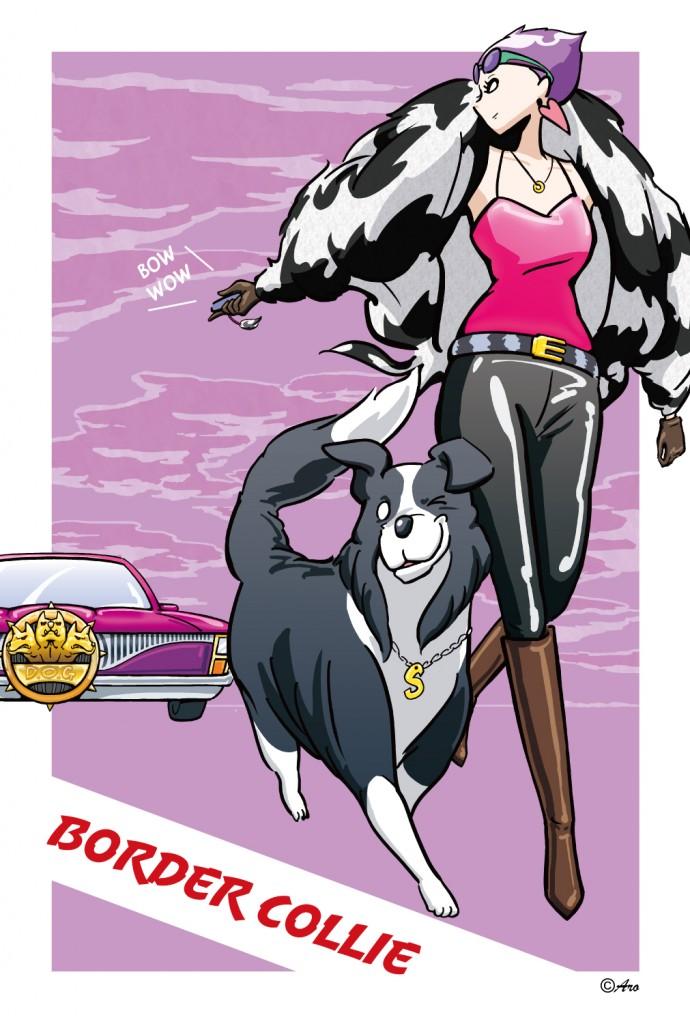 【ボーダーコリー】 イケメン犬のスマイルは、犬も鳥も、人間もイチコロ! 車に夢中の彼女以外は…