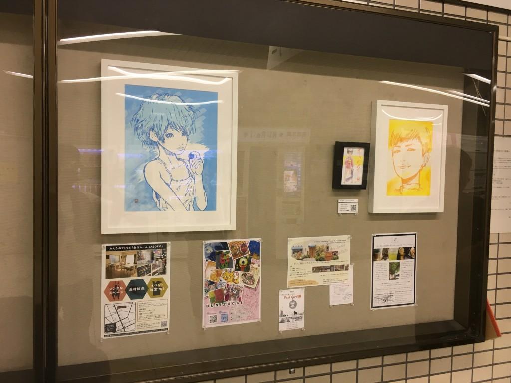 主催の田中寿知さんの展示