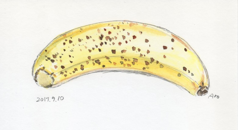 本日、バナナは若干、ヒョウになりかけていました。