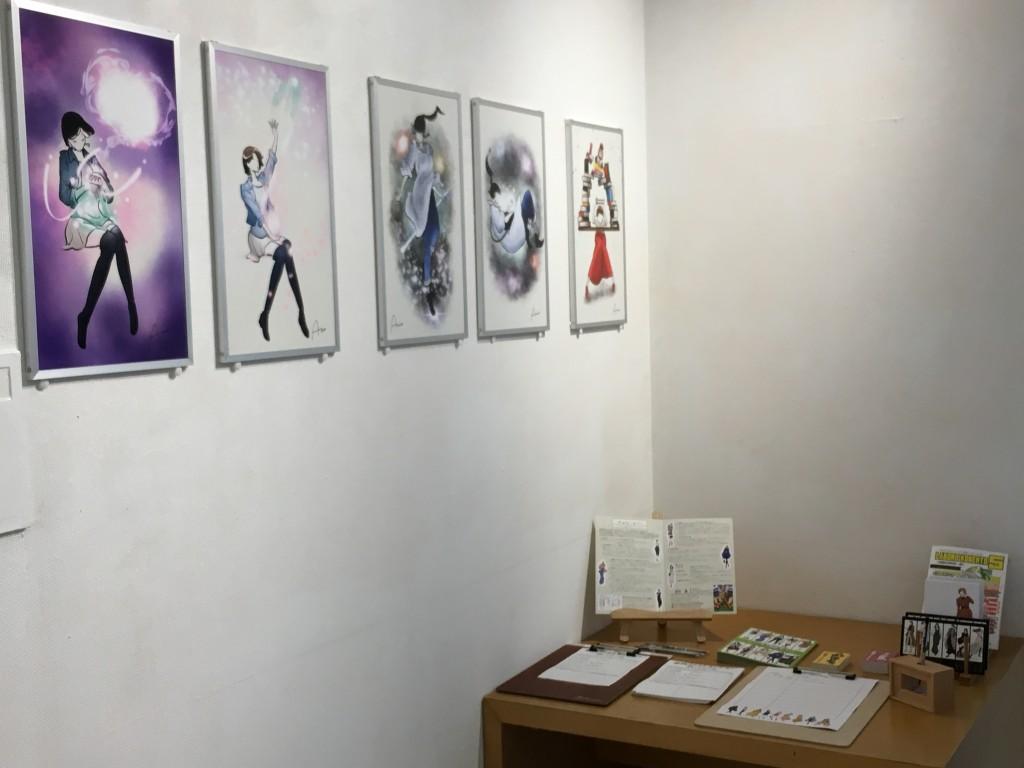 昨年の展示をみて始まったコラボレーションもあります。展示当日には絵と一緒に詩が入ります。